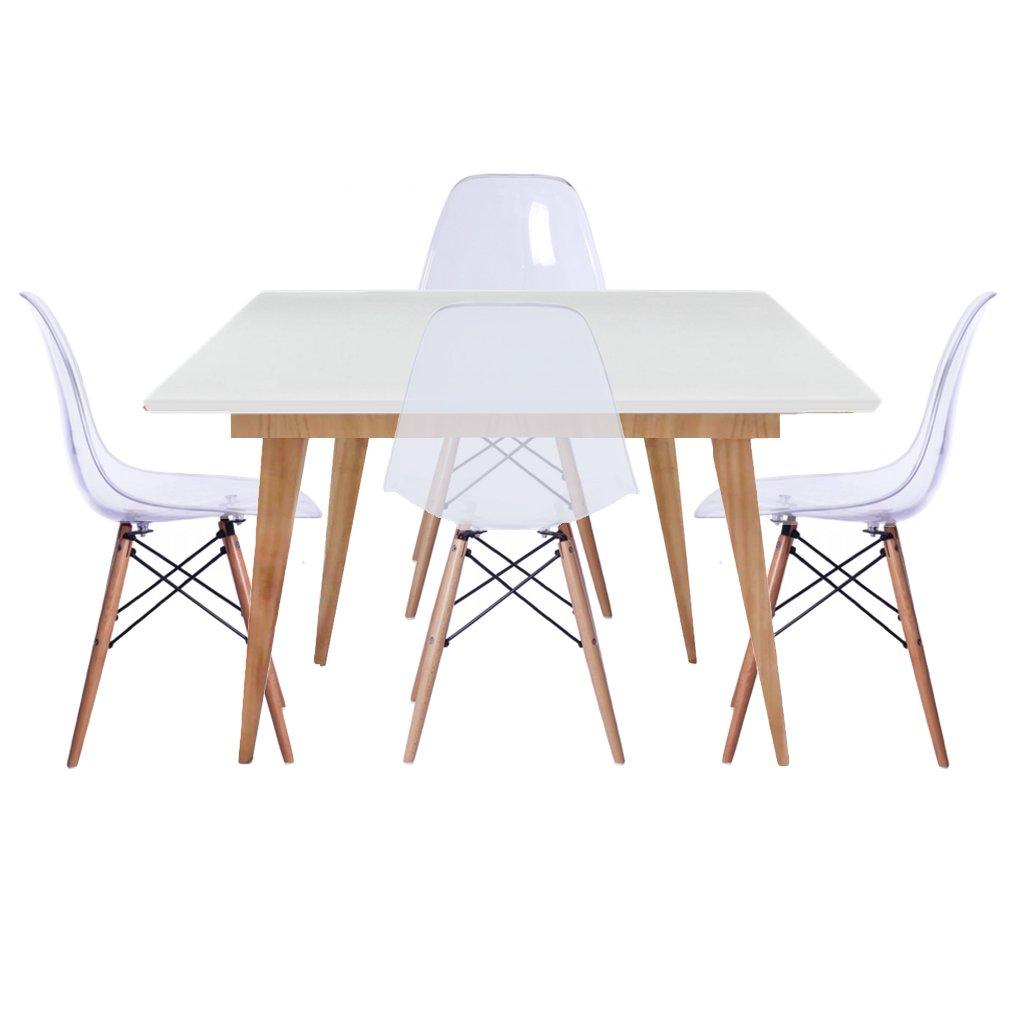 Mesa Comedor Blanca Ikea. Great Mesa De Centro Cristal Y Lacada En ...