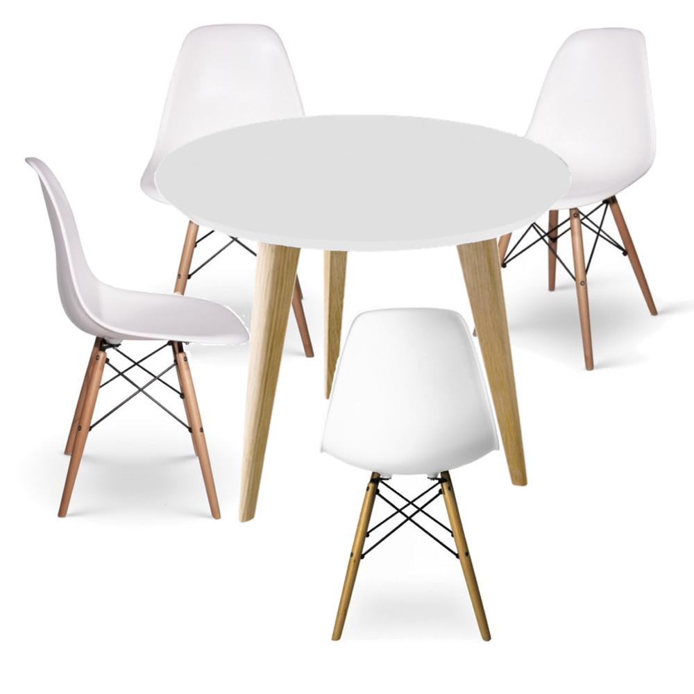 juego de comedor eames kiev 4 sillas dsw 1 mesa kiev