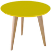 Mesa de Comedor  Kiev 1,10 x 75 cm. (Tapa Color / Base Natural)
