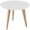 Mesa de Comedor  Kiev 1,10 x 75 cm. (Tapa Blanco / Base Natural)        (copia)