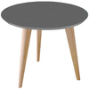 Mesa de Comedor  Kiev 90 x 75 cm. (Tapa Color / Base Natural)