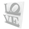 Revistero de Pared LOVE (Silver/Blanco)