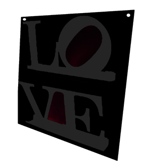 Revistero de Pared LOVE (Negro/Negro)