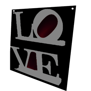 Revistero de Pared LOVE (Silver/Negro)