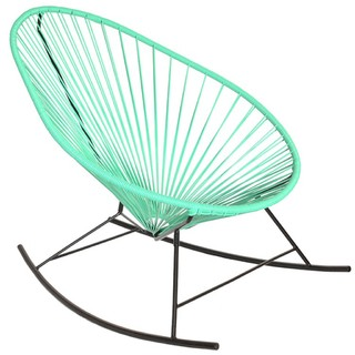 Sillón Mecedor Mexicano Oval  (Asiento Color / Base Negra)