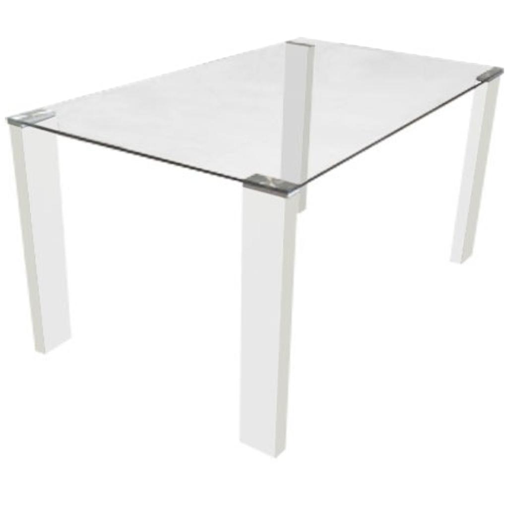 Mesa de vidrio extensible comedor trampa rectangular - Adornos para mesa de comedor rectangular ...