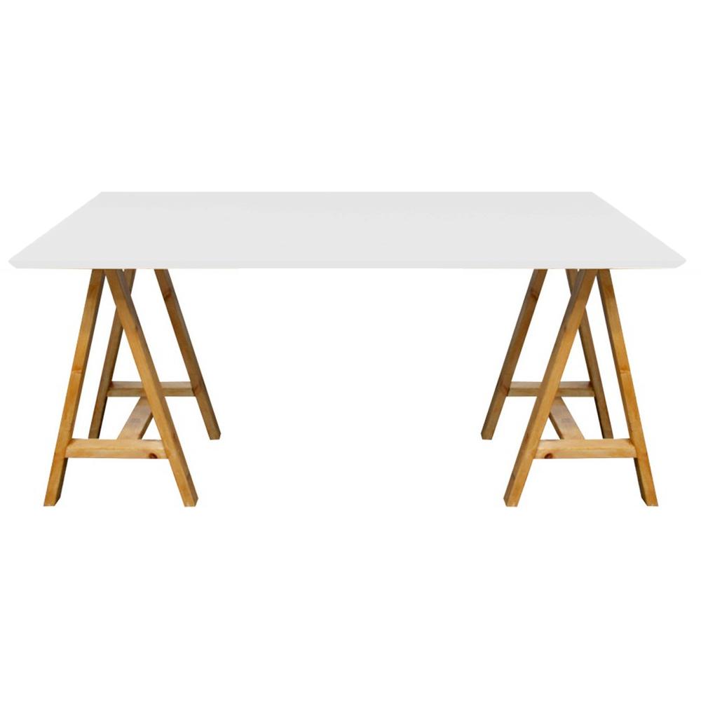 Mesa comedor madera caballete 1 50 x 0 70 mt tapa madera - Mesa con caballetes ...