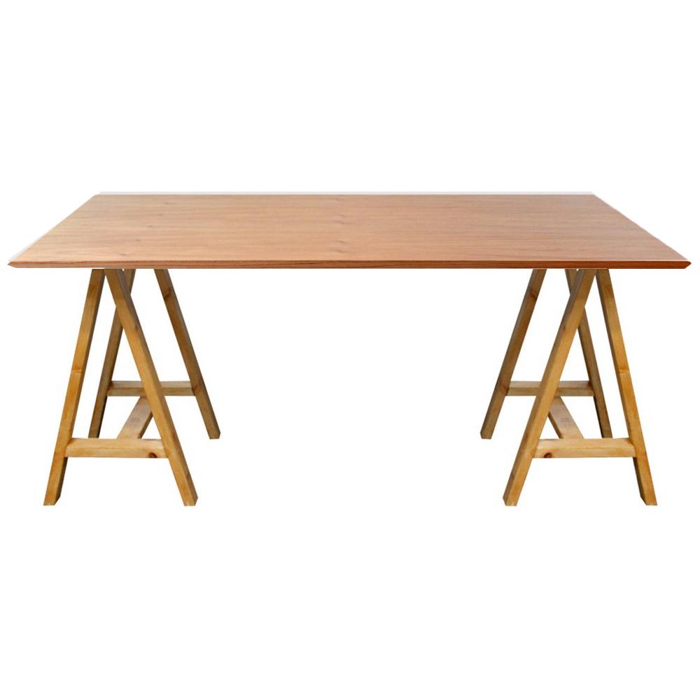 Mesa comedor madera caballete 1 50 x 0 70 mt tapa madera - Mesas comedor madera natural ...
