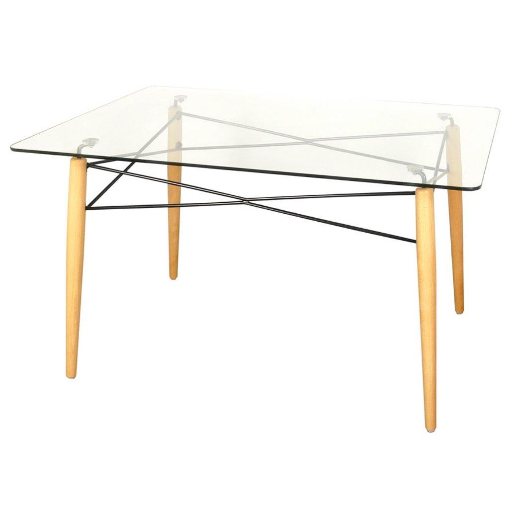Pin mesa vidrio sillas madera mesas juegos comedor for Mesa vidrio
