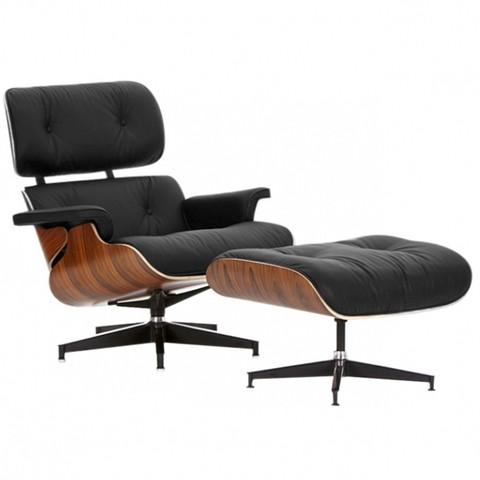 Chaise Lounge Herman Miller (Cuero-Madera)
