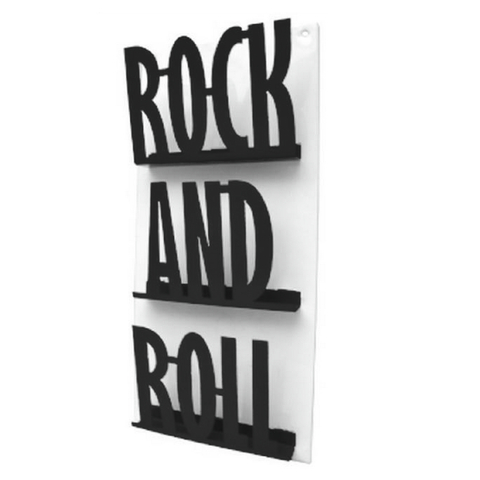Revistero de Pared ROCK (Negro/Blanco)