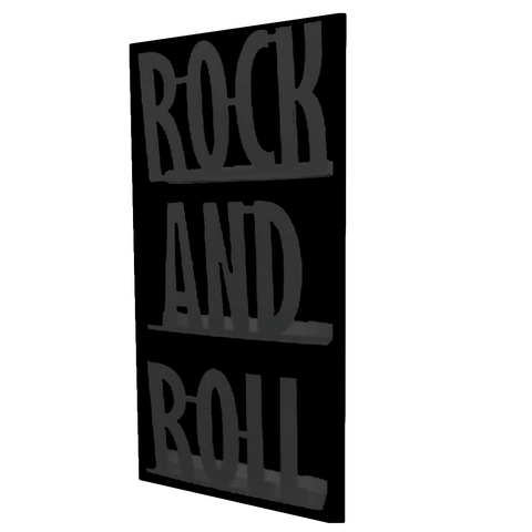 Revistero de Pared ROCK (Negro/Negro)