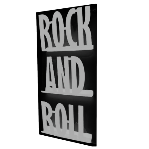 Revistero de Pared ROCK (Silver/Negro)