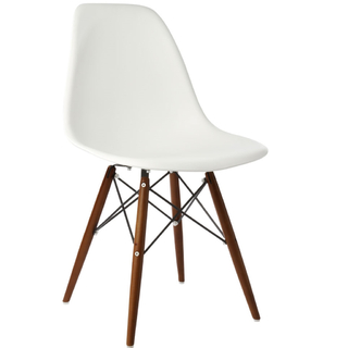 Silla DSW (Importada- Blanco - Base Wengue)