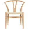 Silla Wishbone (Asiento Natural)
