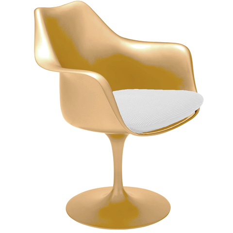 Sillón Tulip (Colores High-Gloss / Gold Perlado)