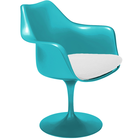 Sillón Tulip (Colores High-Gloss / Aqua Perlado)  (copia)