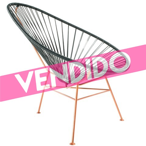 Sillón Mexicano Oval  (Asiento Color / Base Blanca) (copia) (copia)