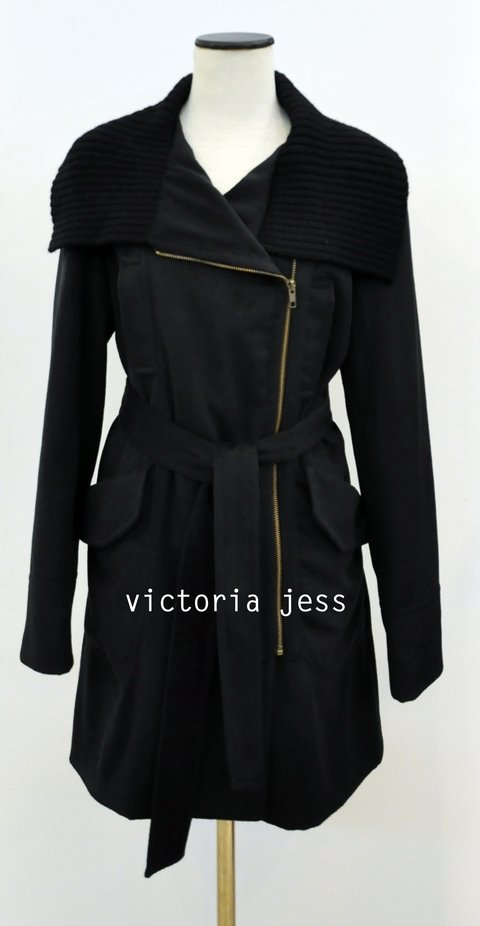 ART.1826 - KNIT NECK VELVET COAT