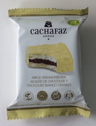 Alfajor de arroz sabor mousse de chocolate - Cachafaz