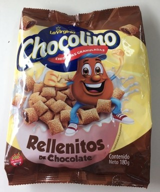 Cereales rellenos de chocolate chispitas chocolino - La Virginia