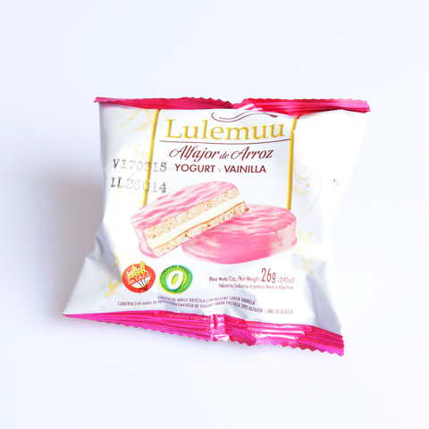 Alfajor de arroz, yogurt y vainilla - Lulemuu