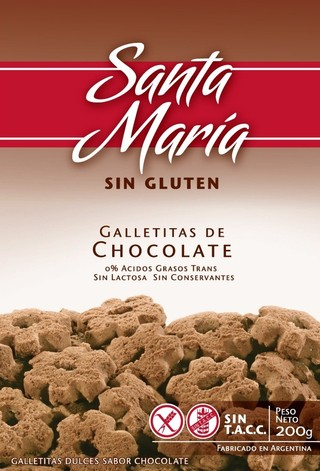 Galletitas Dulces Sabor Chocolate - Santa Maria