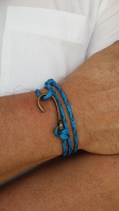 Pulseira Anzol Vibe Vintage Rope Azul - comprar online