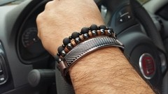 Kit de Pulseiras Stone Wood na internet