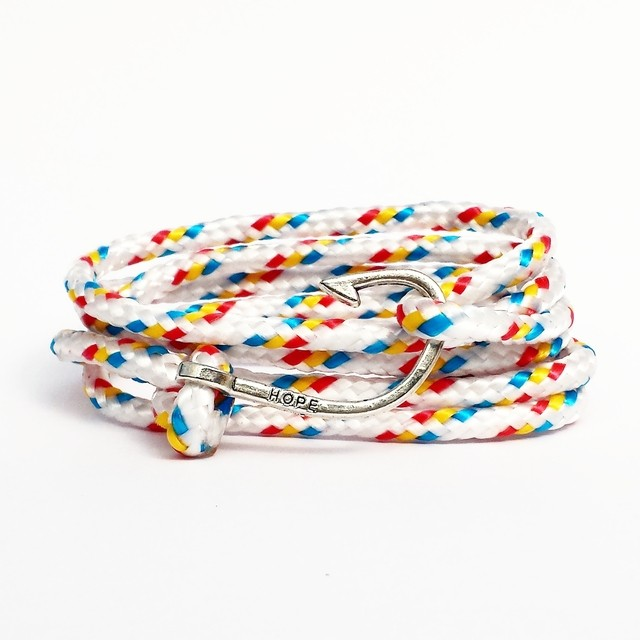 Pulseira Masculina Hope Rainbow Paracord