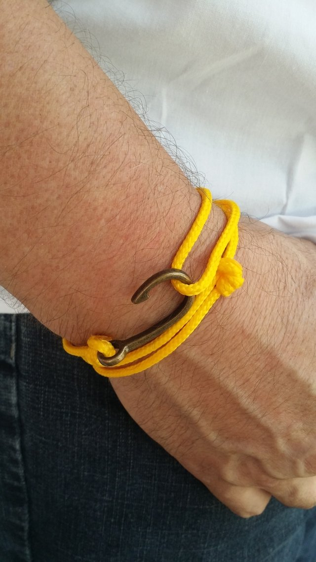Pulseira Anzol Vibe Vintage Rope Amarelo na internet