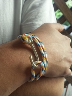 Pulseira Anzol Vibe Gold Rope Rainbow - comprar online