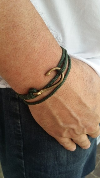 Pulseira Anzol Vibe Vintage Rope Verde - comprar online