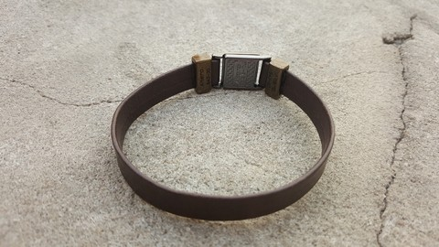 Pulseira Masculina tribal total brown