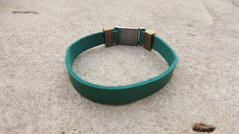 Pulseira Masculina tribal total green