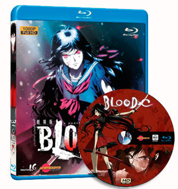 Anime Blood-C dvd cover