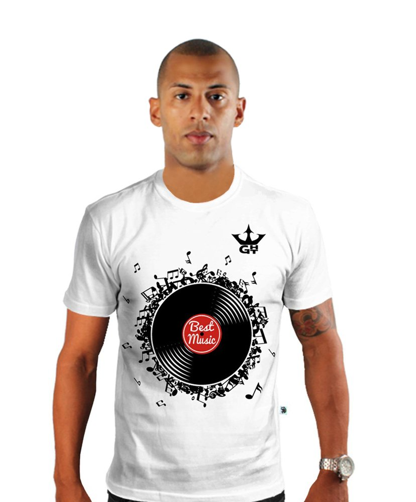 Camiseta Gola Careca Best Music
