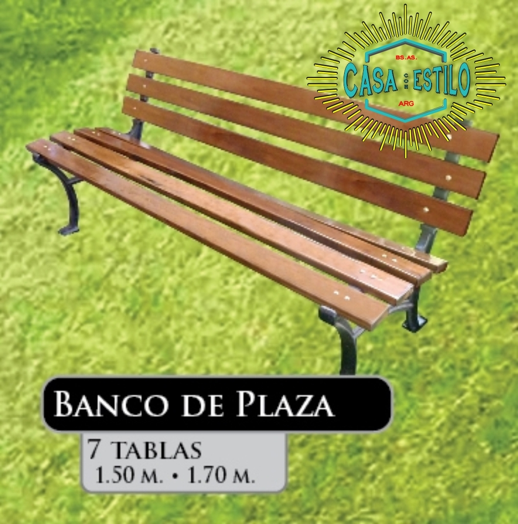 Banco De Plaza 7 Tablas Fundicion Hierro