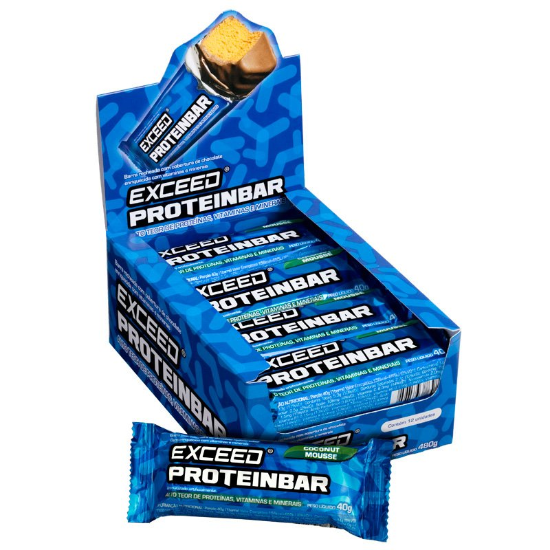 PROTEINBAR EXCEED ORIGINAL COCONUT MOUSE - 12UNI/ 40G