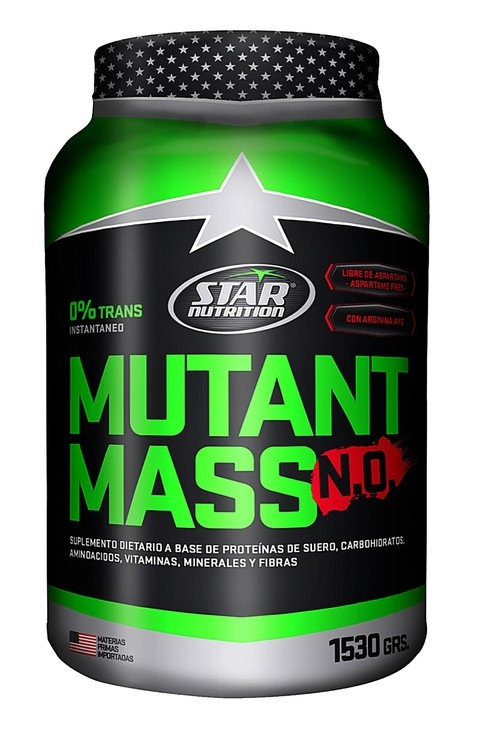 Ganador de peso Mutant Mass N.O Star Nutrition 1,5kg