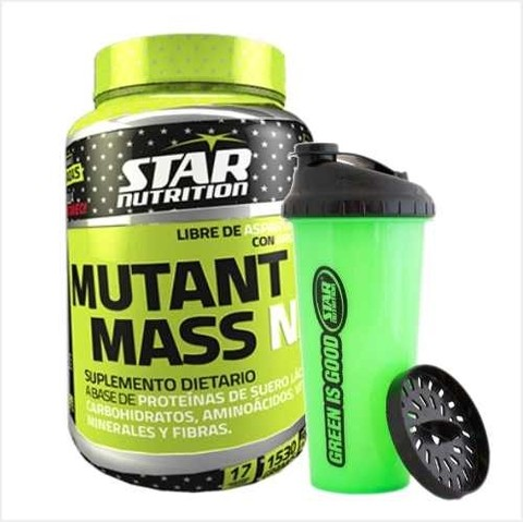 Mutant Mass N.O Star Nutrition + Vaso Mezclador Shaker