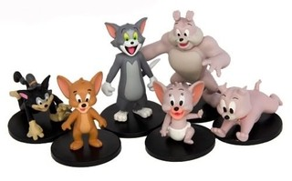 Tom And Jerry 6 Bonecos Hanna-Barbera Jazwares