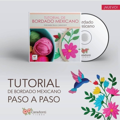 TUTORIAL Bordado Mexicano - On line -