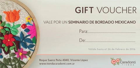 Gift Voucher Bordado