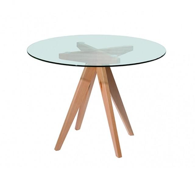 Comprar mesas de comedor en kikely filtrado por for Mesa redonda cristal 8 personas