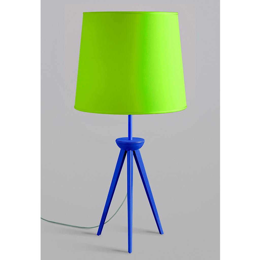 L mpara de mesa tr pode pie pintura az l pantalla varios - Lampara de pie con mesa ...