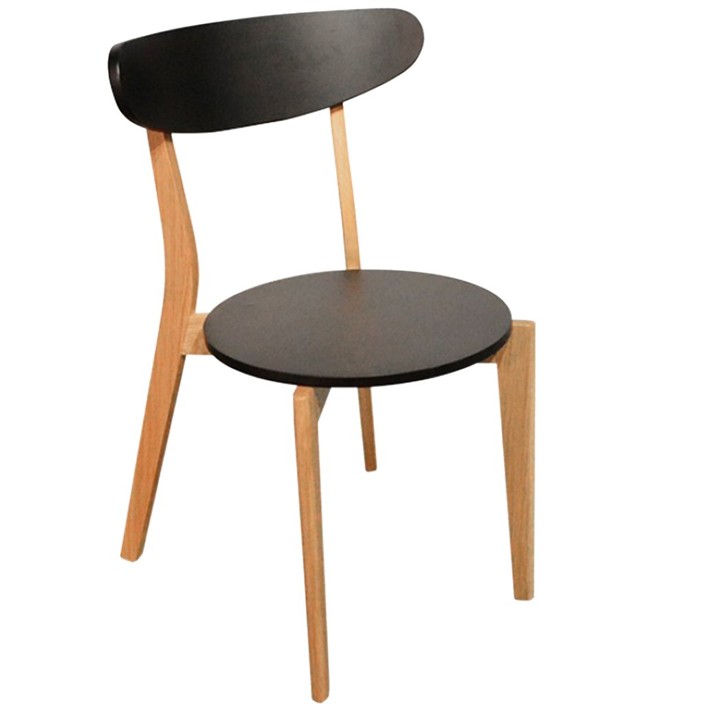 Silla escandinava madera laqueada en negra for Silla escandinava