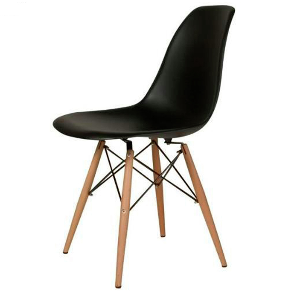 Silla eames pata madera negra dsw gift collection for Sillas negras modernas