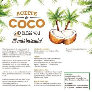 Aceite de Coco Neutro 500 ml God Bless You - comprar online