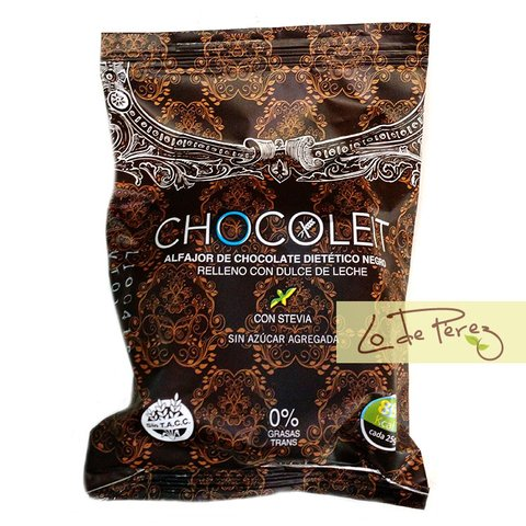Alfajor de Chocolate Negro x 50 gs Chocoleit